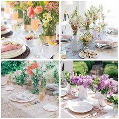 Mesa para Almoço de Dia das Mães   Como fazer em casa Table Decorations, Furniture, Home Decor, Lunch Table, Lunch Ideas, Mother's Day, Diy Home, Flower Arrangements, Woman