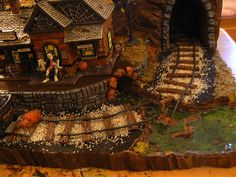 Hello there and welcome to and Main custom village displays. This listing is here to get you started on a custom display landscape that I Halloween Train, Halloween Village Display, Halloween Items, Halloween House, Fall Halloween, Halloween Decorations, Fall Decorations, Halloween Crafts, Peanuts Halloween