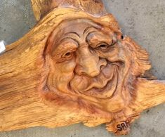 Carved Wood Spirit Man.