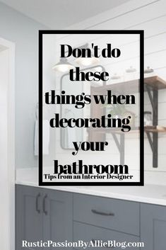 These tips from an interior designer will help you decorate a beautiful bathroom whether its for your apartment master or small bathroom there are so Neutral Bathroom, Small Bathroom, Bathroom Ideas, Bathroom Designs, Bling Bathroom, Disney Bathroom, Paris Bathroom, Bathroom Niche, Large Bathrooms