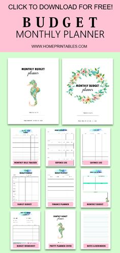 - Best of Home Printables - Budget Monthly Budget Printable, Budget Planner Template, Monthly Budget Planner, Budget Binder, Free Printables, Budget Templates, Monthly Expenses, Templates Printable Free, Business Budget Template
