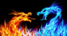 Illustration about Abstract blue and red fiery dragons. Illustration on black background for design. Illustration of east, beautiful, dragon - 21112960 Dragon Bleu, Blue Dragon, Dragon Art, Fire And Ice Dragons, Fire Lion, Fiery Dragon, Dragon Illustration, Flame Art, Lion Design