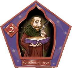 Author 1486 - 1535 Celebrated wizard imprisoned by Muggles for his writing, because they thought his books were evil.