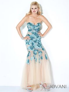 JOVANI 172208 naked sexy gown sequins www.pzazdresses.com