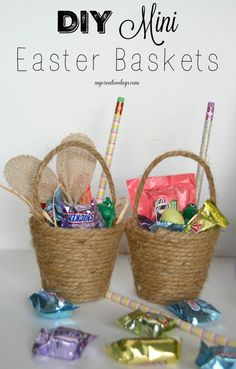 Homemade easter bunny pinatas pinatas pinterest easter bunny looking for a fun twist on an easter basket make these diy mini easter baskets negle Images