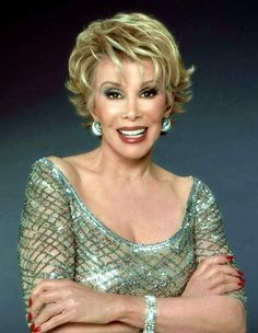 Joan Alexandra Rosenberg (née Molinsky; June 8, 1933 – September 4, 2014), known by her stage name Joan Rivers, was an American actress, comedian, writer, producer, and television host, best known for her stand-up comedy, for co-hosting the E! celebrity fashion show Fashion Police, and for starring in the reality series Joan & Melissa: Joan Knows Best? alongside her daughter Melissa Rivers.