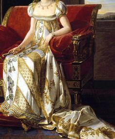 """""""Portrait of Pauline Bonaparte"""" (1808) (detail) by Marie-Guillemine Benoist (1656-1746)."""