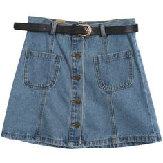 Chicnova Fashion High Waist Denim Skirt