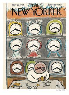Art.fr - Regular Giclee Print 'The New Yorker Cover - May 20, 1944' par Abe Birnbaum