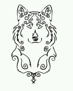 cute wolf tattoo: Design Drawings Line Drawings Wolf Tattoos Tattoo ...