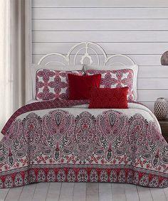 Look what I found on #zulily! Red Imogen Five-Piece Reversible Quilt Set #zulilyfinds