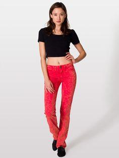 Mineral Wash Stretch Bull Denim | Jeans | Women's Pants | American Apparel