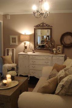 cottage living rooms decorating ideas | ... Living Room, Cozy cottage living room off kitchen, Living Rooms Design