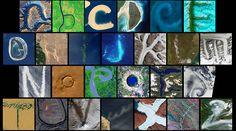 A #Nasa coletou e organizou uma série de imagens feitas do espaço mostrando letras do #alfabeto.