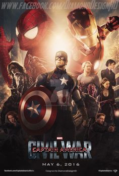 Les plus belles affiches de fans de Captain America Civil War - DiamondDesignHD