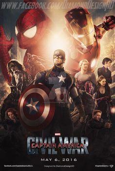 Les plus belles affiches de fans de Captain America Civil War - DiamondDesignHD