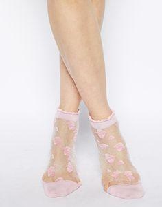 Enlarge ASOS Floral Sheer Ankle Socks