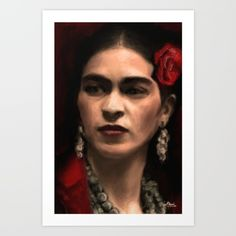 Frida Art Print, Available for sale in Society6.com