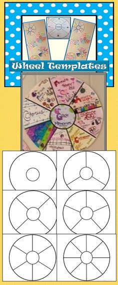 Memory Wheels are just one project students can complete with the Wheel Templates. The wheels can be used for any concept and for many purposes - as graphic organizers, book reports, memory wheels, vocabulary wheels, and more!  Included are a blank wheel and wheels divided into 3, 4, 5, 6, and 8 sections.$