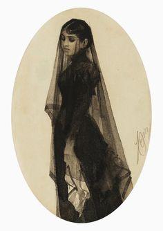 Вдова ANDERS ZORN (SWEDEN, 1860-1920)