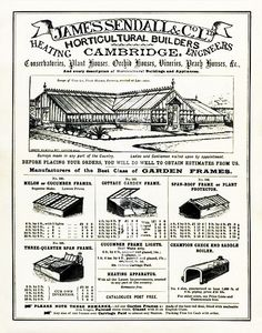 Vintage Graphic for Greenhouse, Conservatory, Cold Frame Builders