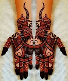 Here you will get the latest and beautiful collections of Mehndi designs for your marriage and engagement occasion. Find and get ideas for your wedding. Henna Hand Designs, Mehndi Designs Finger, Mehndi Designs Feet, Latest Bridal Mehndi Designs, Full Hand Mehndi Designs, Mehndi Designs For Beginners, Mehndi Design Pictures, Mehndi Designs For Girls, Wedding Mehndi Designs