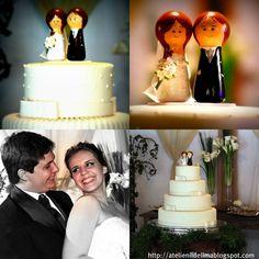 O  casamento  lindo! de  Rany e Rodrigo. Tive o privilégio de confeccionar o seu topo de bolo.