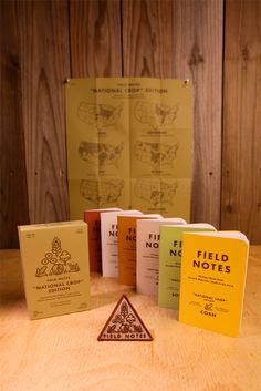 """For Spring 2012, our fourteenth FIELD NOTES COLORS release sends us right back to our roots. """"The National Crop Edition"""" is something new, and at the same time, something old. The FIELD NOTES BRAND is based on a long tradition of promotional memo books that, for more than a century, were widely distributed to American farmers by seed, tractor, fence, and other agricultural companies."""