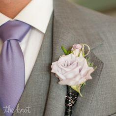 Light Purple Rose Boutonniere // photo: Liga Photography // boutonniere: Flourish Fresh Productions Inc // Wedding: http://www.theknot.com/weddings/album/a-pastel-wedding-in-orlando-fl-110277