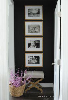 Home Design Decor, Home Decor Wall Art, Living Room Decor, Diy Home Decor, House Design, Interior Design, Design Art, Black Accent Walls, Black Walls