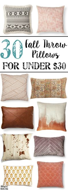 5 Decorating Mistakes That Make Your Home Look Cluttered * * * Before getting to this design lesson – I have something fun, fabulous and FREE Fall Pillows, Throw Pillows, Living Room Color Schemes, Decorating On A Budget, Decorating Blogs, Room Colors, Dollar Stores, Fall Decor, Seasonal Decor