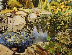 Arthur Lismer. Lily Pond. Google Image Result for http://thegroupofseven.net/Lismer/Images/Arthur-Lismer-Lily-Pond-Georgian-Bay-1948-L.jpg