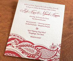 38 best invitation design arti images on pinterest indian hindu indian letterpress wedding card and stationery design gallery arti by invitations by ajalon stopboris Gallery