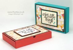 Stampin' Up! Demonstrator Pootles –No Glue Foldable Box Using Cupcakes & Carousels Spin then pin! Happy Wednesday everyone! Today I'm flying off to Amsterdam for the OnStage …