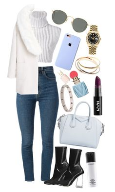 """""""Cascabelera"""" by andy993011 ❤ liked on Polyvore featuring Yves Saint Laurent, Baja East, MANGO, Ray-Ban, Givenchy, Rolex, Cartier, Miu Miu, Essie and MAC Cosmetics"""