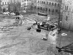 Floods in Piazza della Signoria,Florence on 4th Nov. 1966. I live about 100m away from this piazza and nearer the River Arno. Makes me aware of damage caused by heavy rains.