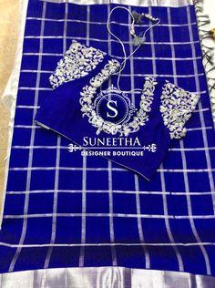 Kanchipuram pattu sarees with Maggam work blouses by Suneetha Designer boutique! Best Blouse Designs, Work Blouse, Sarees, Blouses, Boutique, Scrub Tops, Saris, Blouse, Boutiques