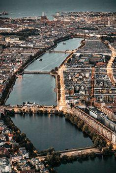 Copenhagen City, Copenhagen Denmark, Denmark Landscape, Capital Of Denmark, Fine Art Photography, Urban Photography, Above The Clouds, Beautiful Places To Travel, Aerial View