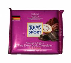 Ritter Sport Fine Extra Dark Chocolate 100g at Rs.175 online in India.