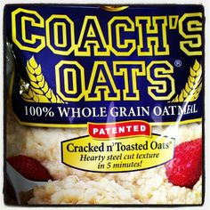 Thank you @momnimochi for being a fan of Coach's Oats, and for your testimonial: best oatmeal ever! #coachsoats #oatmeal