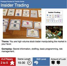 Insider Trading Prototype Box Back