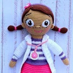 Doc McStuffins doll free amigurumi pattern