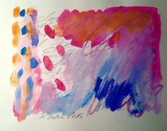 Kristina Botha ARTwork: Übermalte Lyrik I. / 2015