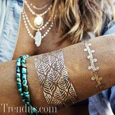 Mücevherlerin yeni rakibi: Metalik dövmeler