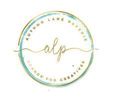 Vorgefertigten Logo Design Aquarell Blume von AutumnLanePaperie