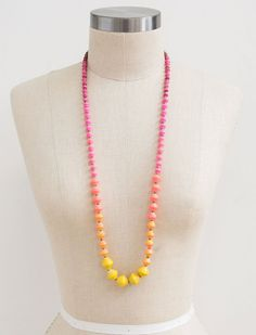 31 Bits Citron Escape Pink/Yellow Necklace