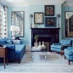 30 Inspired Image of Monochromatic Living Room . Monochromatic Living Room Coastal Living Room With Monochromatic Color Schemes And Blue Monochromatic Living Room, Eclectic Living Room, Coastal Living Rooms, Living Room Modern, Living Room Designs, Living Room Decor, Elle Decor, Living Room Turquoise, Turquoise Walls