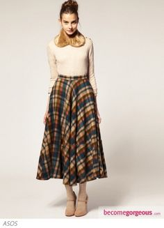 midi skirts on pinterest | ... : Chic Winter Skirts 2012 - ASOS Midi Skirt in Oversized Check