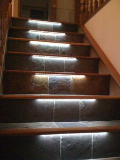 Today's emphasis? The stairs! Here are 26 inspiring ideas for decorating your stairs tag: Painted Staircase Ideas, Light for Stairways, interior stairway lighting ideas, staircase wall lighting. Traditional Staircase, Modern Staircase, Staircase Design, Staircase Ideas, Staircase Landing, Stair Design, Wood Staircase, Staircase Remodel, Grand Staircase