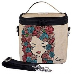 SoYoung Pixopop Roses Large Insulated Cooler Lunch Food Storage Bag #SoYoung